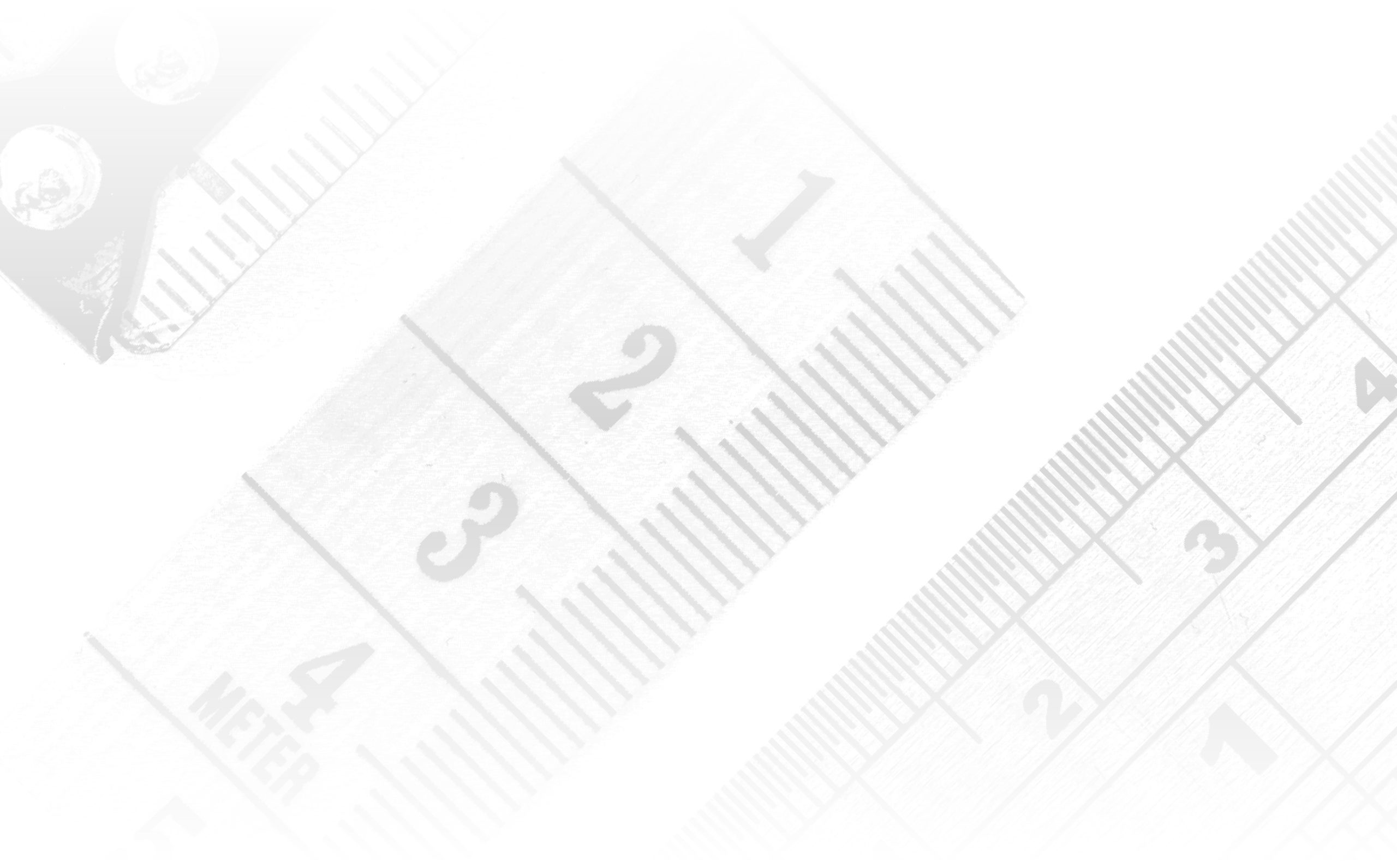 Grayscale rendering of a series of tape measurers.