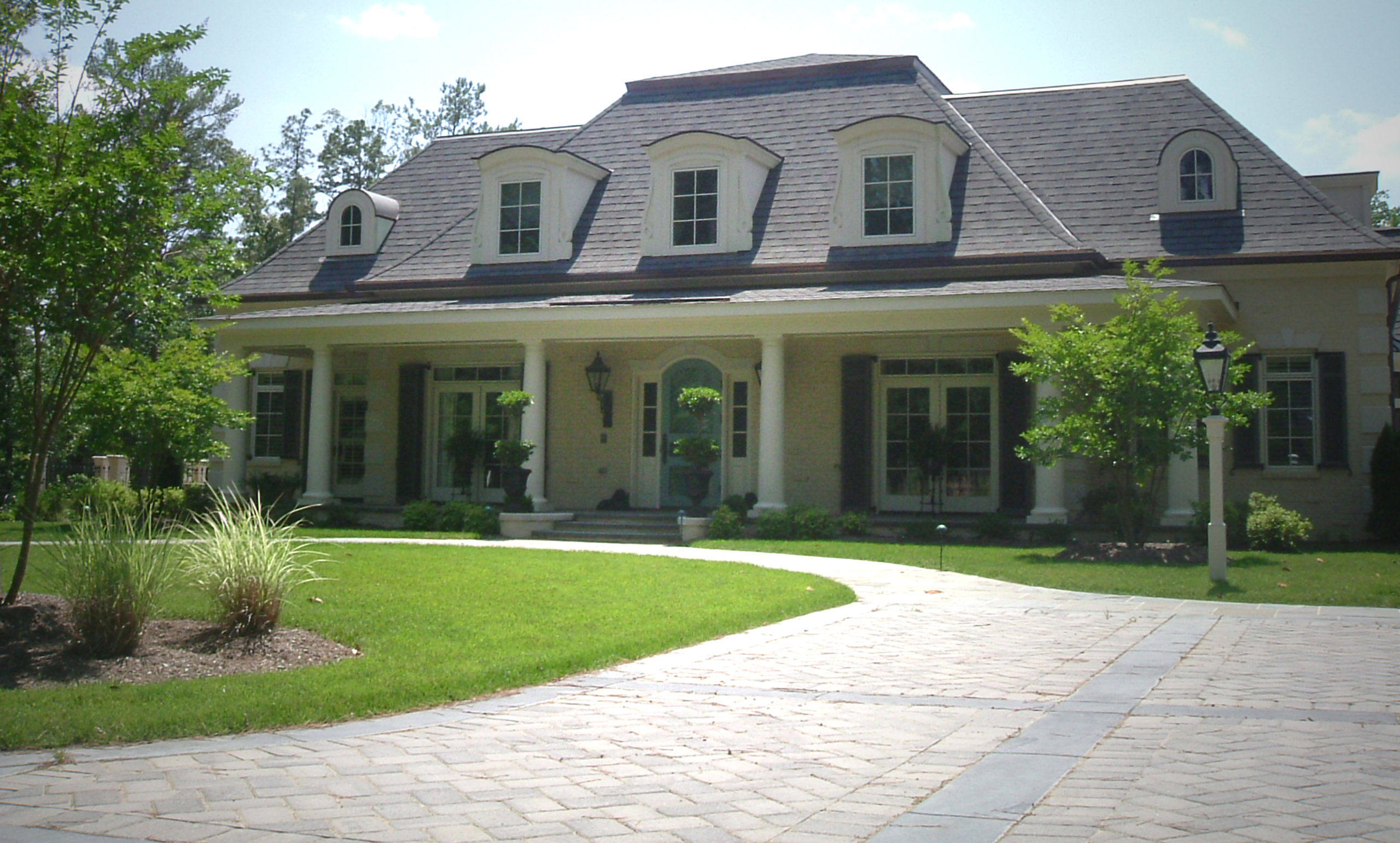 Exterior photo of the French Country Manor custom home project.