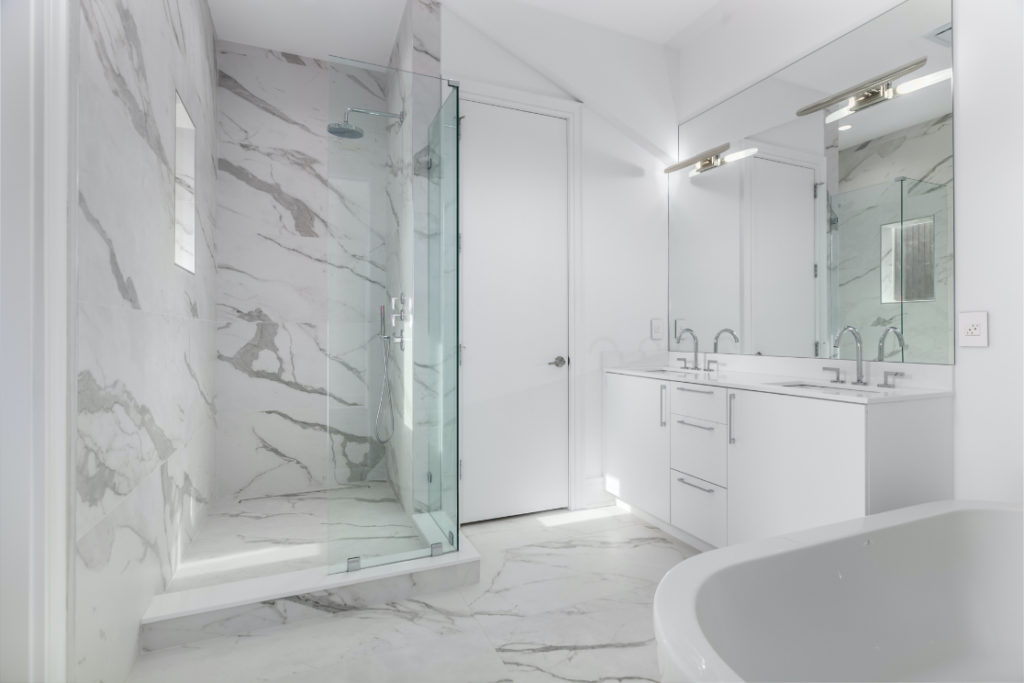 Photo of a custom designed bathroom.