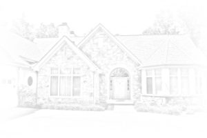 Sketched rendering of a custom home built by Pomarico Construction.